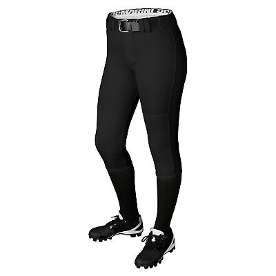DeMarini Girl's Belted Fastpitch Softball Pant - Black - Small