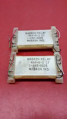 *new* (Lot Of 2) Wabash Reed Relay 464-9-1 C7 / 1-660-9005
