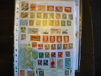 A Good Collection Of Norway Stamps On 4 Plus Pages....with Early Issues