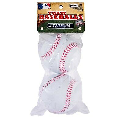 (One Size) - Franklin Sports MLB Replacement Foam Balls 2 pk No. 14941