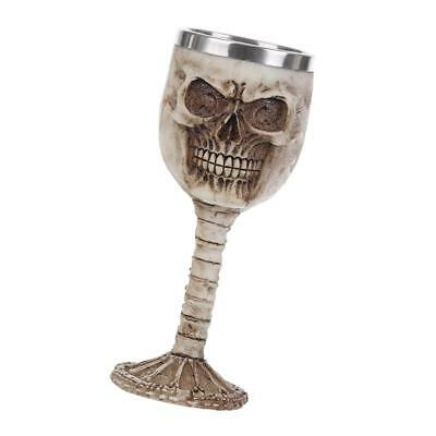 3D Gothic Skull in Helmet Stainless Goblet Wine Beer Decorative Cup Craft
