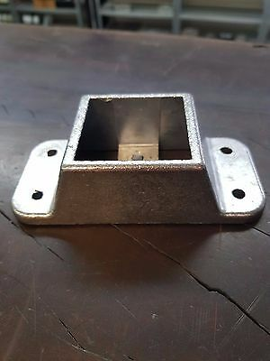 50x50 Rail Bracket - Cast Aluminium - 4 Holes + Security Fixing Hole