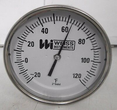 "Weiss Instruments 5-1/4"" Thermometer -20 to 120°"