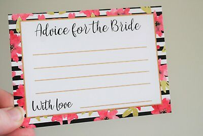Bachelorette Bridal Shower Games Advice for Future Mrs Hens Party Game Cards