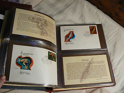 1980 Olympic Stamp Program 79 Russian First Day Covers In Album
