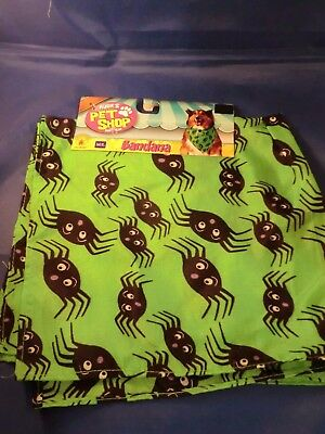 NEW Dog Bandana with Spiders size M/L Rubie's Pet Shop #580189