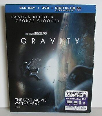 Gravity Blu-ray, DVD, Digital HD, NEW with slipcover! 2-disc set, 2013