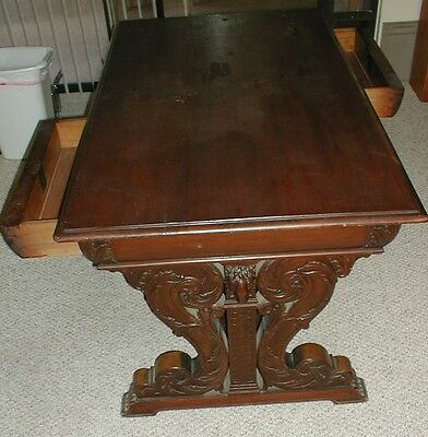 19th CENTURY GOTHIC REVIVAL PARTNERS DESK