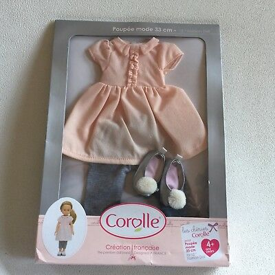Corolle Les Cheries Dress and Leggings Fashion Set Doll Clothing Shoes, New