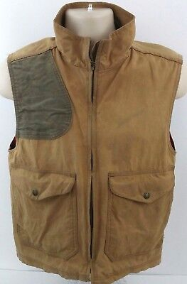 Filson Shooting Hunting Guide Vest Mens Small Waxed Cotton USA