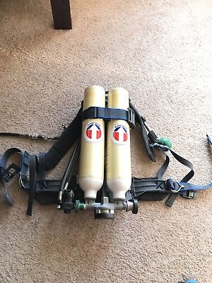 Survivair SCBA Low-pro HP30 - Dual 15 Minute Tank Harness - Great Shape