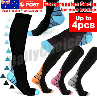 Compression Socks Copper Medical Stockings Travel Running Anti Fatigue Unisex AU