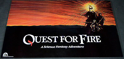 QUEST FOR FIRE 1980 ORIG. ADV 40x25 PROMO MOVIE POSTER! RON PERLMAN OSCAR WINNER