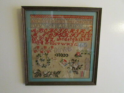 Vintage Hungry Sampler Numbers Letters Figures