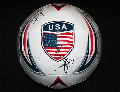 USA US MENS NATIONAL TEAM 20+ SIGNED SOCCER BALL + PROOF Photos CLINT DEMPSEY