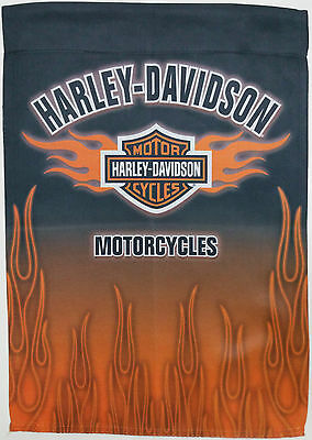 """HARLEY DAVIDSON FLAG Greeting Card with Double Sided Flag Inside 12"""" X 18"""""""
