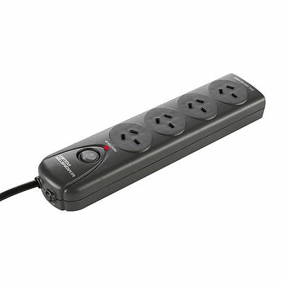 Monster Essentials Surge Protected 4 Outlet Fireproof Powerboard