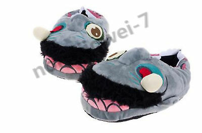 Halloween Slippers Cartoon Zombie Big Mouth Strange Home Keep Warm Cotton Drag