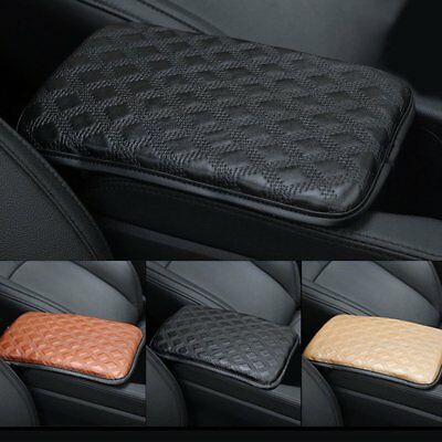 Best Car Seat Armrests Cover Leather Pad Auto Armrests Protective Mats Black P6