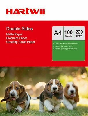 A4 220Gsm Matte Matt Double Sides Photo Paper Inkjet Laser Jet  - 100 Sheets