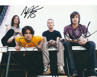 All American Rejects Autographed Photo Signed 8X10 #1 Tyson Nick Mike Chris