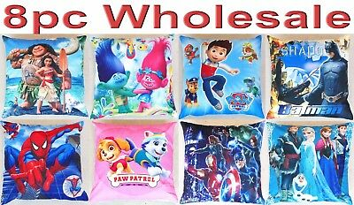 8pc Wholesale Kids Children Trolls Moana Square Pillow Case Cushion Cover Mixed