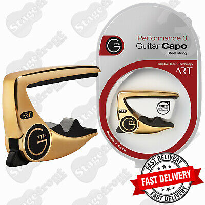 G7th PERFORMANCE 2. 18kt GOLD PLATE CAPO FOR STEEL STRING GUITARS