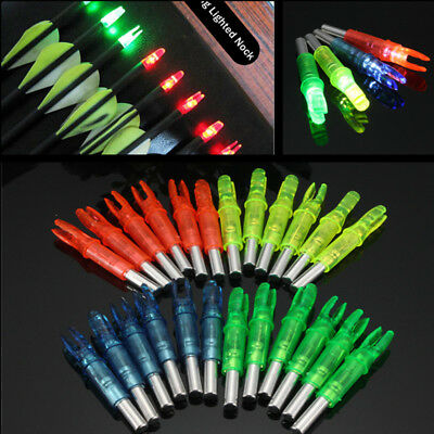 Led light up arrow knock for night hunting and tracking 6 peices
