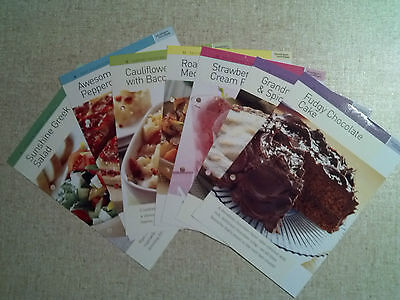 7 Various Recipes On Laminated Cards. New