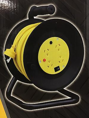 25M Electrical Cord Extension Reel 4 Outlet ON OFF switch 240V - 10Amp 25 metres