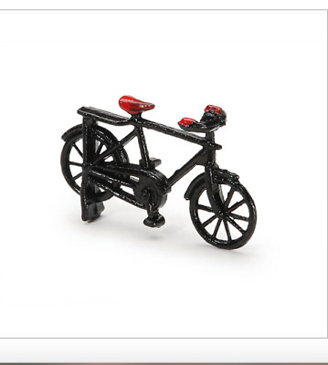 ONE CHILD BICYCLE 1:24 (G) SCALE DIORAMA Metal - Black - 2'' x 1 1/4'' inches