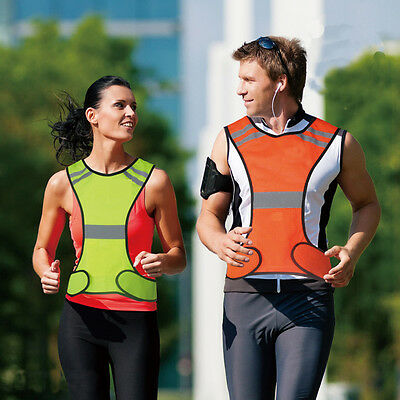 Reflective Safety Vest High Visibility Safety Sports Gear  Adults Children EB4