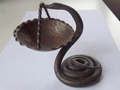 French antique 1900 snake counter display shop apothecary aesculap cast iron