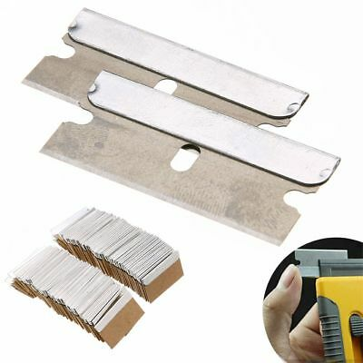 100pc Carbon Steel Edge Single Razor Blade Scraper Blades Fish tank Glass Window
