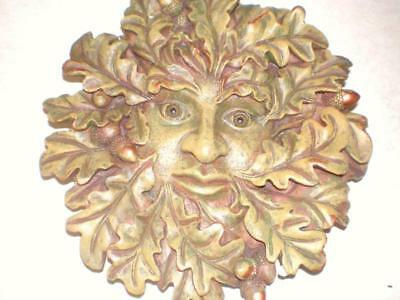 Green Man Plaque, Latex Craft Mould Ornament Reusable Art & Crafts Hobby Wicca