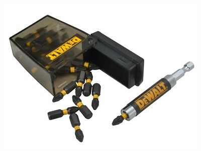 DEWALT Extreme Impact Torsion PZ2 Screwdriver Bits & Holder 25 Pcs XMS17TORSION