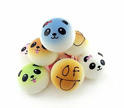 BeautyMood 4Pcs Random Smiling Face Round SoftKawaii Bread Smell Charms Cellp...