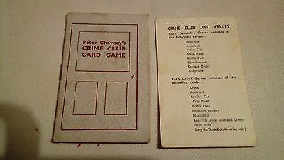 Crime Club Card Game : Peter Cheyney : Pepys Game incomplete
