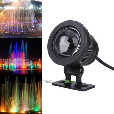 10W RGB Colors LED Underwater Light Remote Control Pool Pond Lamp Light  AC 12V