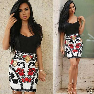 Sexy Women Sleeveless Bodycon Foral Party Cocktail Dresses Summer Beach Dress