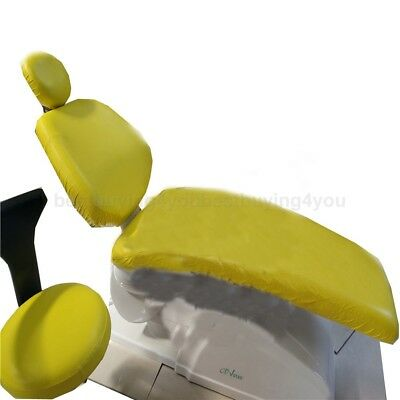 1set Dental Chair Seat PU Waterproof Elastic Dust Cover Protector Yellow GD