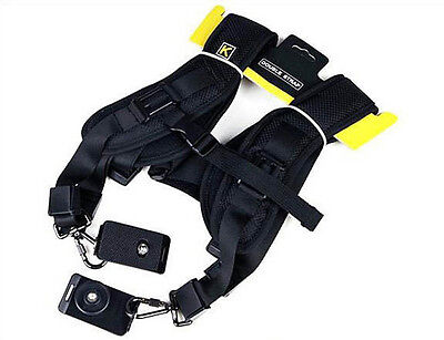Quick Rapid Double Shoulder Sling Belt Neck Strap Adjustable for Canon Nikon SLR