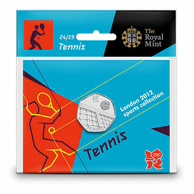 London 2012 Brilliant Uncirc Olympic 50p Tennis/Table Tennis NEW Sealed Packs!