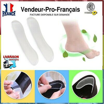 2 paires de protege talon invisible silicone friction chaussures ampoules