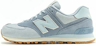 the latest 62f7a d7a7b New Balance 574 Vintage Baskets en Porcelain Bleu   Réflection Gris ML574  Seb