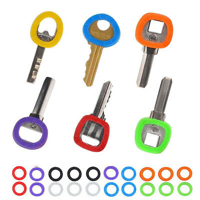 32 Pcs Candy Color Hollow Silicone Key Cap Covers Topper Keyring Circle Holder