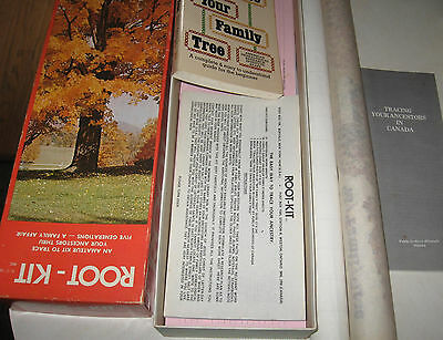 Family Tree  Roots Poster Genealogy Ancestry Kit for Canada tracing Ancestors