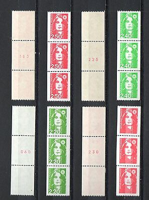 FRANCE NEUF** 1983 2718a 19a 2819a 23aType MARIANNE BICENTE roulettes N°rouge