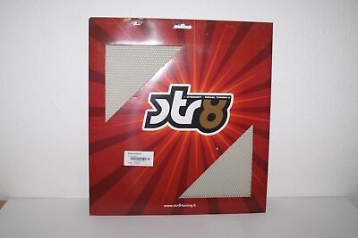 STR8 Racinggitter strong quality, 30x30cm, feiner Lochabstand in chrom