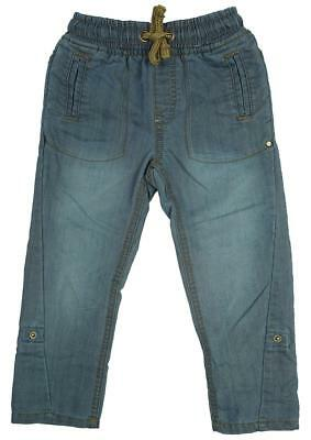 Boys Jeans Denim Stretch Waist Pull on Roll Up Toddler Kids 12 Months to 3 Years